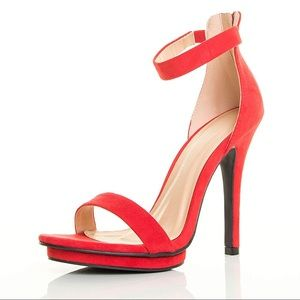 Red Stiletto Platform Heels